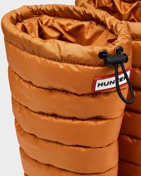 Hunter | Orange Women's Original Tall Quilted Leg Rain Boots | Lyst