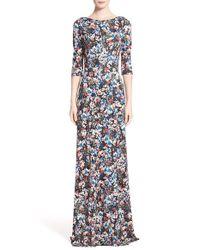 Erdem - Black Valentina Floral-Print Gown - Lyst