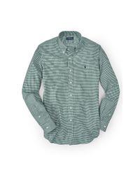 Polo Ralph Lauren - Green Slim-fit Gingham Cotton Shirt for Men - Lyst