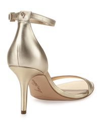 Sam Edelman - Natural Patti Leather Ankle-wrap Sandal - Lyst
