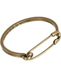 Giles & Brother | Metallic Brass Safety Pin Id Cuff for Men | Lyst