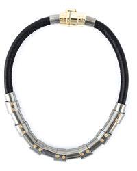 Lanvin | Black Choker Necklace | Lyst