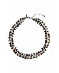 TOPSHOP - Multicolor Rhinestone Wrap Necklace - Lyst