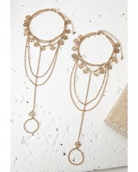 Forever 21 - Metallic Diamond Charm Foot Chain Set - Lyst