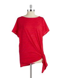 MICHAEL Michael Kors - Red Striped Tie Top - Lyst