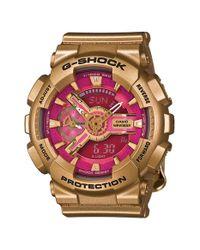 G-Shock - Metallic G-shock 'accent S-series' Resin Ana-digi Watch - Lyst