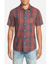 RVCA - Blue 'waas' Woven Short Sleeve Shirt for Men - Lyst