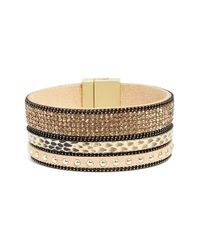 Elise M | Natural 'geneva' Leather Bracelet | Lyst