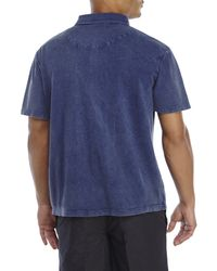 English Laundry - Blue Weathered Polo for Men - Lyst