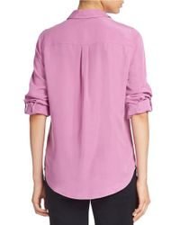 Lord & Taylor | Purple Roll-tab Blouse | Lyst