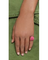 Marc By Marc Jacobs - Pink Rubberized Jerrie Rose Ring - Bright Rose - Lyst