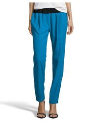 Thakoon Addition - Blue Woven Slouchy Pleated Colorblock Pants - Lyst