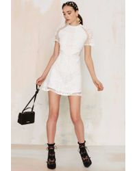 Glamorous - White New Lace On Life Dress - Lyst
