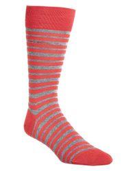 BOSS - Red 'marc' Stripe Socks for Men - Lyst