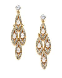 Adriana Orsini - Metallic Wisteria Pavé Crystal Chandelier Earrings - Lyst