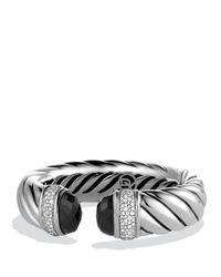David Yurman | Metallic Waverly Bracelet With Black Onyx & Diamonds | Lyst
