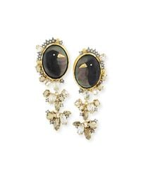 Alexis Bittar - Black Elements Carved Raven Cameo Clip-on Earrings for Men - Lyst