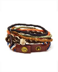 Icon Brand - Multicolor Bracelet With Mixed Beads for Men - Lyst