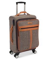 "Hartmann | Gray Closeout! Herringbone Classic 21"" Carry On Spinner Suitcase for Men 