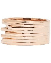 Repossi | Pink Rose Gold Eight_band Antifer Ring | Lyst