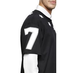 Givenchy | Black Cuban Star Patches Jersey T-shirt for Men | Lyst