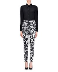 Moschino - Black Casual Pants - Lyst