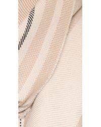 Rag & Bone - Natural Warp Stripe Scarf - Cream - Lyst