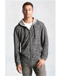 True Religion | Black Marled Colorblock Mens Hoodie for Men | Lyst