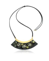 Marni - Black Mercurio Strass Necklace - Lyst