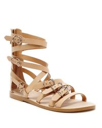 Dolce Vita | Natural Okena Strappy Leather Sandals | Lyst