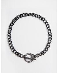 Lipsy - Metallic Toggle Collar Necklace - Lyst