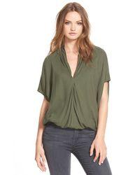 Ella Moss | Green 'Stella' Dolman Sleeve Blouse | Lyst