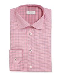 Eton of Sweden - Red Contemporary-Fit Gingham-Windowpane Woven Dress Shirt for Men - Lyst