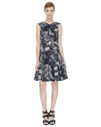Rebecca Taylor - Black Sonic Garden V-neck Dress - Lyst