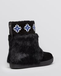 Tory Burch - Black Boots - Lafayette Embroidered - Lyst