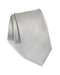 Michael Kors | Metallic Plaid Silk Tie for Men | Lyst