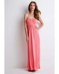 Forever 21 - Pink Strapless Maxi Dress You've Been Added To The Waitlist - Lyst