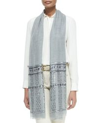 Loro Piana | Blue Notturno Sequin-embellished Woven Stole | Lyst