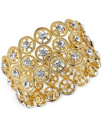2028 | Metallic Gold-Tone Wide Disk Cuff Bracelet | Lyst
