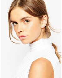 ASOS | Metallic Ditsy Pearl And Stone Ear Climber | Lyst