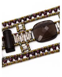 Ziio - Gray Armonia Multi-beaded Bracelet - Lyst