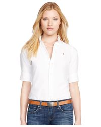 Polo Ralph Lauren - White Short-sleeve Oxford Shirt - Lyst