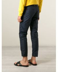 MSGM | Blue Cropped Trousers for Men | Lyst