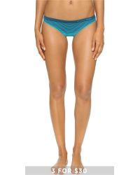 Calvin Klein - Blue Seamless Illusions Bikini Panties - Lyst