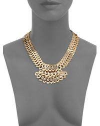 DANNIJO - Metallic Julia Crystal Cascade Bib Necklace - Lyst