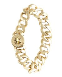 Marc By Marc Jacobs | Metallic Goldtone Turnlock 'small Katie' Bracelet | Lyst