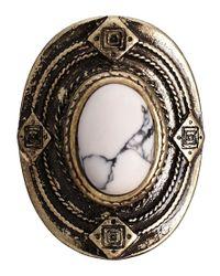 ASOS - White Festival Stone Ring - Lyst