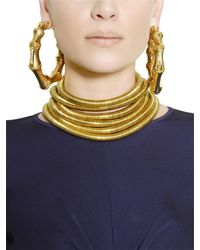 Balmain | Metallic Gold Plated Brass Earrings | Lyst