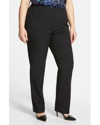 Sejour - Black 'ela' Modern Fit Pants - Lyst