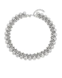 Rebecca Minkoff | Metallic Hex Chain-wrap Collar Necklace | Lyst